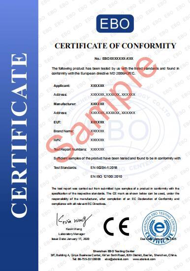 机械设备CE证书